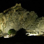 Lindos Acropolis by night